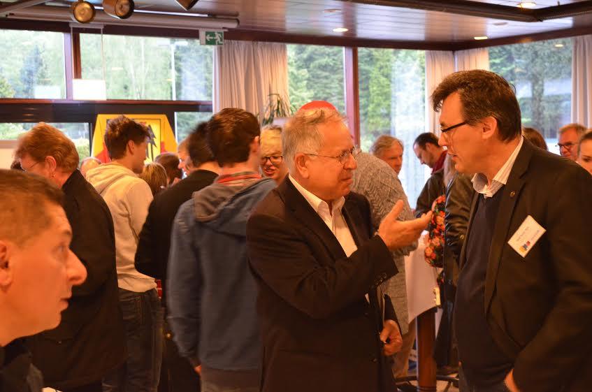 Dernek Başkanımız M.Kaymakçı,FUEN Genel Başkan Yardımcısı H.Habipoğu ile kokteylde